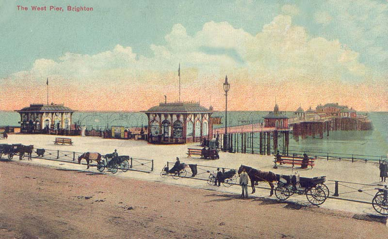 Sussex, Brighton, West Pier 1920's