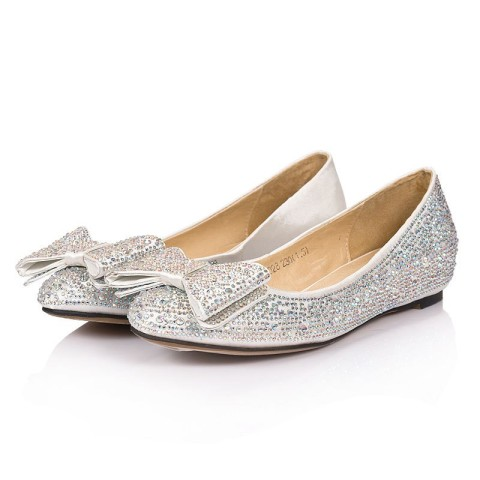 silver-full-rhinestones-cute-bows-ballerina-comfy-wedding-shoes