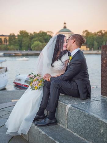 Linn & David 22 augusti 2015 Sommarbröllop Stockholm